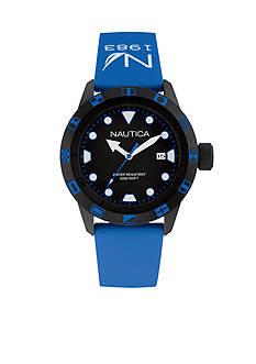 Nautica Men's Blue and Black Watch