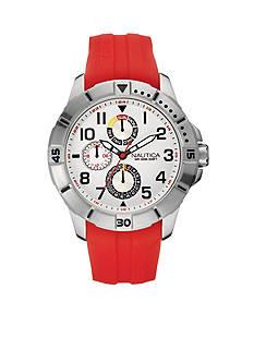 Nautica Men's Red NSR 300 Multi-Function Watch