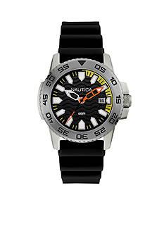 Nautica Men's Black Silicone Strap Watch