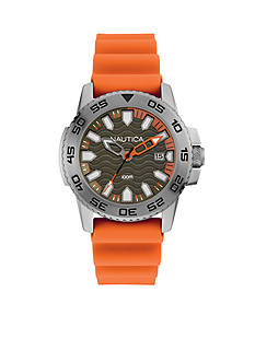 Nautica Men's Orange Silicone Watch