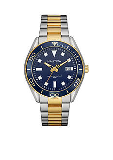 Nautica Men's NAC 103 Two-Tone Watch