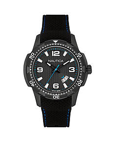 Nautica Men's NCS 16 Black Silicone Watch