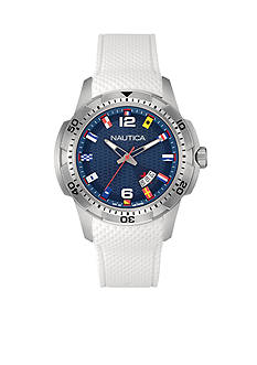 Nautica Men's Blue NCS 16 Flags Watch