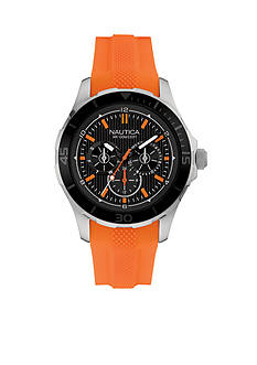 Nautica Men's NST 10 Orange Watch