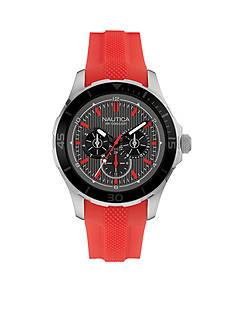 Nautica Men's Red Silicone Strap