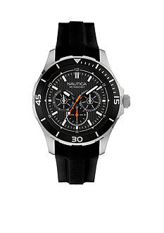 Nautica Men's Black Silicone Watch