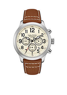 Nautica Men's Tan NCC 01 Chronograph Watch