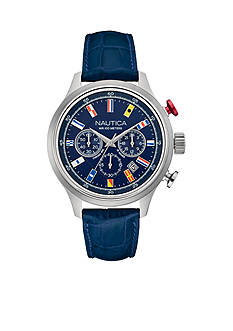 Nautica Men's Navy 16 Flag Chronograph Watch