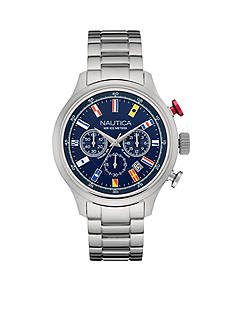 Nautica Men's Navy NCT 16 Flags Chronograph Watch