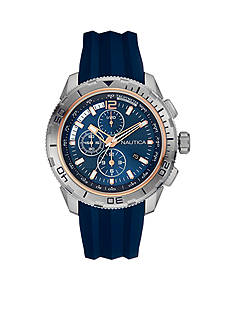 Nautica Men's NST 101 Navy Chronograph Watch