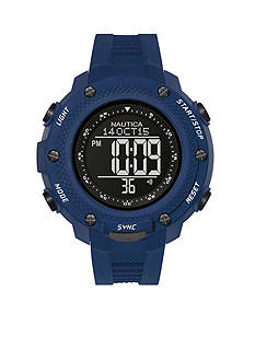 Nautica Men's NMX 15 Navy Digital Yachtimer Watch