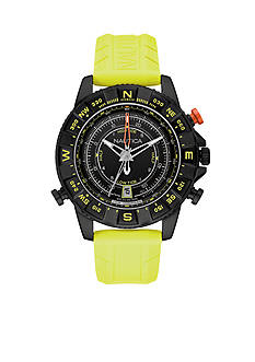 Nautica Men's NSR 103 Yellow Tide Temp Compass Watch