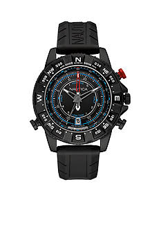Nautica Men's NSR 103 Black Tide Temp Compass Watch