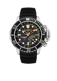 Nautica Men's Black NMX Dive Style Watch