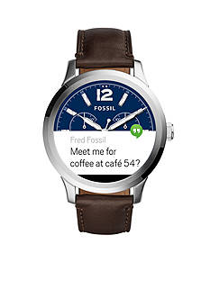 Fossil Men's Q Founder Display Brown Leather Watch