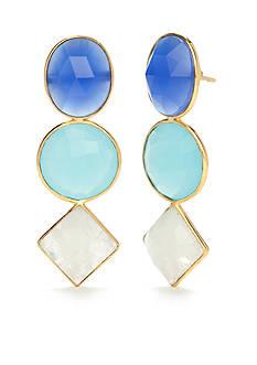 Reece Blaire 3 Stone Multi Earrings