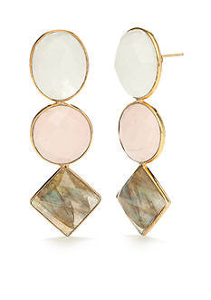 Reece Blaire 3 Stone Multi Earrings