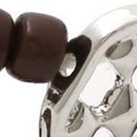 Fashion Jewelry: Brown Gracewear BEADED BRACELET- BROWN/SILVER