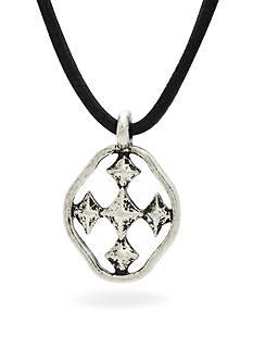Gracewear Shield of Hope Leather Pendant Necklace