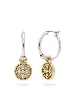 Gracewear Shield of Faith Medallion Small Hoop Earrings