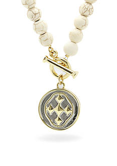 Gracewear Gold-Tone Shield of Faith Medallion Pendant Necklace