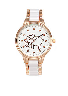 A Classic Time Watch Co. Women's White Elephant Watch