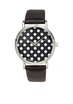 A Classic Time Watch Co. Women's Black With White Dots Watch