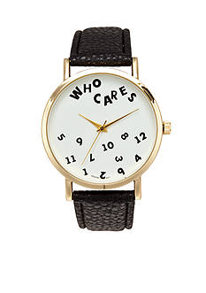 A Classic Time Watch Co. Women's Who Cares Watch