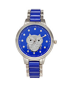 A Classic Time Watch Co. Women's Blue Owl Watch