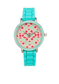 A Classic Time Watch Co. Women's Tribal Blue Silicone Watch