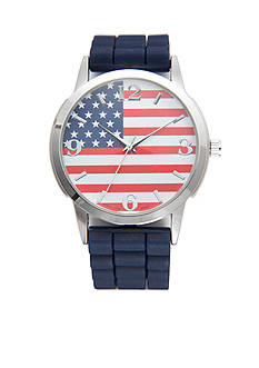 A Classic Time Watch Co. Women's American Flag Dial Watch