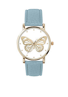 Jessica Carlyle Women's Butterfly Dial Watch