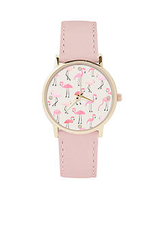 Jessica Carlyle Women's Pink Flamingo Watch