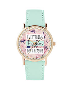Jessica Carlyle Women's 'Everything Happens For A Reason' Watch