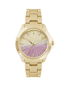 Jessica Carlyle Women's Gold-Tone Ombre Glitter Watch