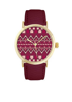 Jessica Carlyle Women's Aztec and Gold-Tone Watch