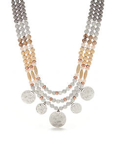 New Directions Silver-Tone Natural Elements Collar Necklace