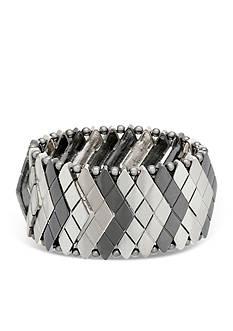 Steve Madden Metal Snake Stretch Bracelet