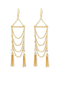 Steve Madden Chandelier Chain Tassel Earrings