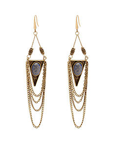 Steve Madden Tribal Stone Drape Earrings