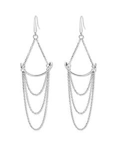 Silver Gypsy Spirit Steve Madden Simple Chain Draped Earrings