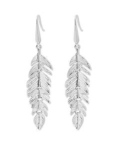 Steve Madden Metal Leaf Drop Earrings