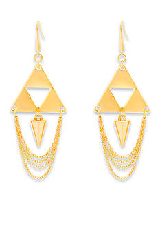 Steve Madden Cutout Pyramid And Spike Earring