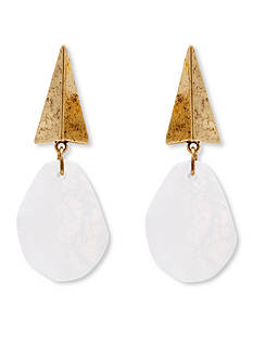 Steve Madden Pyramid Stone Drop Earrings