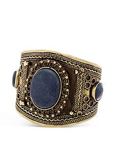 Steve Madden Engraved Tribal Cuff Bracelet