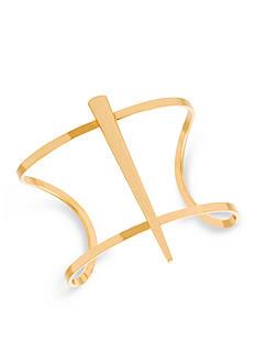 Steve Madden Delicate Metal Horn Cuff Bracelet