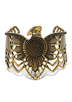 Steve Madden Gold-Tone Dye Job Tribal Wrap Around Eagle Cuff Bracelet