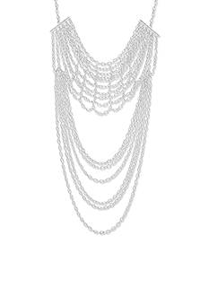 Steve Madden High Low Chain-Link Statement Necklace