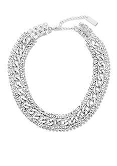 Steve Madden Rhinestone Edge Chain-Link Necklace