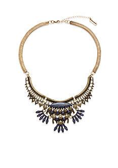 Steve Madden Tribal Stone Bib Necklace